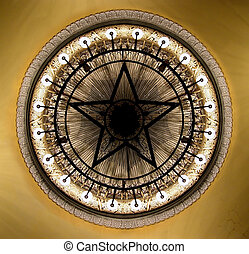 Chandelier In The Moscow Theater