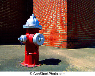 Hydrant and Wall - Fire hydrant and wall