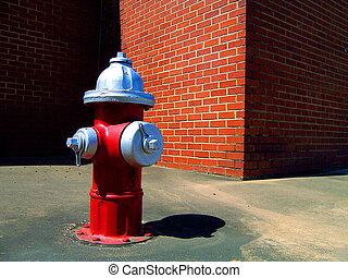 hidrante, parede