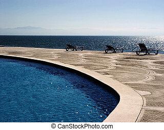 Tropical Pool by the ocean
