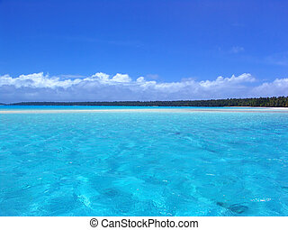 Tropical Ripple - Ripples in Turquoise Lagoon