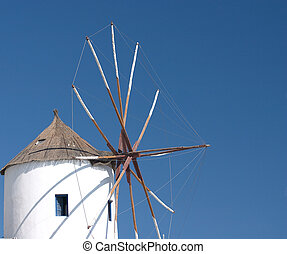 Santorini windmill - A restored windmill on santorini
