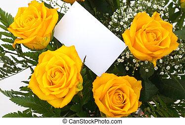 jaune, roses, 5