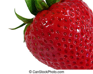 Strawberry - This is a super macro shot of a strawberry