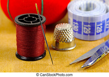Needle and Thread - Various Sewing Related Objects.