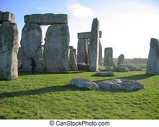Stonehenge - Rocks of stonehenge on summer day