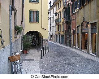 European Street - European street cut in half due to...
