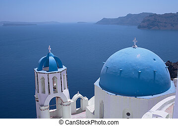 Santorini church 1 - One of the famous churches at Oia,...