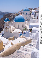 Santorini churches 2 - One of the famous churches at Oia,...