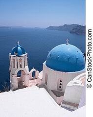 Santorini Churches 4 - One of the famous churches at...