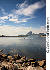 Marina da Glória with Pão de Açúcar, the sugar loaf, in...