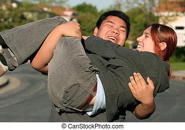 Happy couple - Happy teenagers