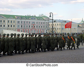 Parade in Moscow, Russia
