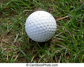 Golf Ball - golfball in the rough