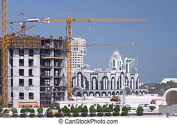 Construction in Doha - Rebuilding Qatar, early 2005