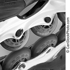 In-line Skates - Close-up of inline skates