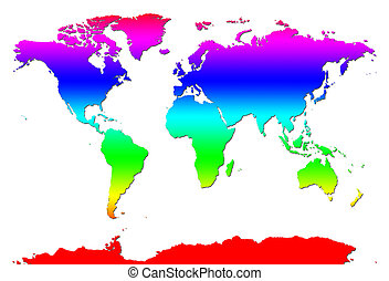 World Map - Rainbow World Map