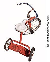 aislado, triciclo