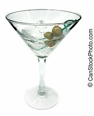 martini isolated with olives