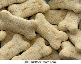 Dog bones treats - Close-up of dog bone treats