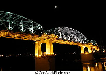 Nashville Bridge - Nashville Walking Bridge at night