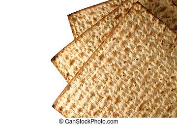 Matzo - macro - Matzo - Jewish Passover bread