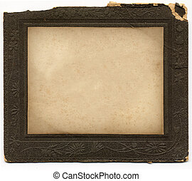 Vintage Frame 1 - Antique card picture frame with black...
