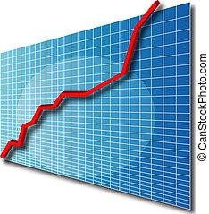 Chart line 3d up - 3d line chart going up