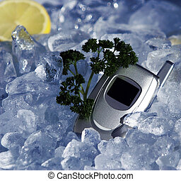 Cell phone on ice