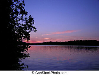 sunset - taken in bwcaw in northern mn