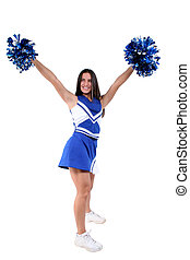 Cheerleader Teen - Full body cheerleader with braces over...