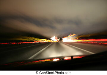 Blurred Driving - Blurred interstate driving