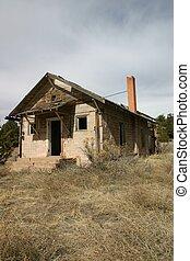 Forsaken - Abandoned school building in rural Colorado