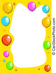 Balloon Border - party balloon border designed to fit an A4...