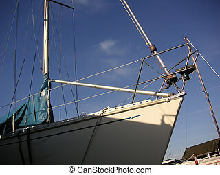 Prow of a Yacht - Close-up of the front part of a yacht,...