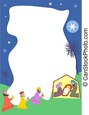 Nativity Border - Christmas nativity page frame