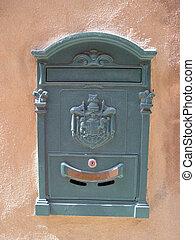 mailbox - grey italian mailbox
