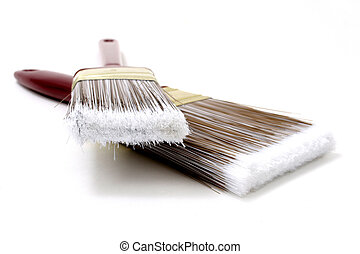Paint Brush - Two paint brushes with great detail in top...