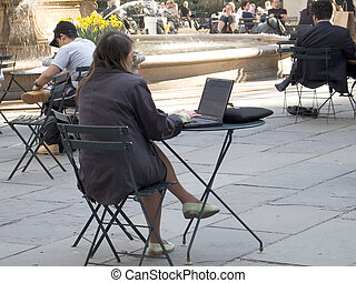 Wireless In the Park - This is a photo of a woman in Bryant...