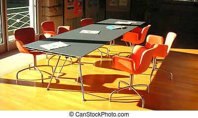 Orange meeting room - Meeting room with orange chairs