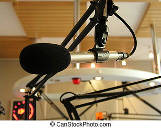 news microphone - shot at the radio station