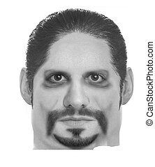 MALE MUGSHOT 2 - THIS IS A FABRICATED MUGSHOT OF A MALE....