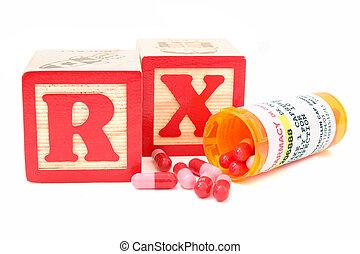 Antibiotics Drugs - Blocks spell RX (perscription) behind a...