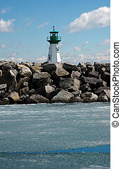 Lighthouse - St Lawrence Seaway Lighthouse, Prescott,...