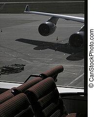 休息室, 機場,  scene2, 離開