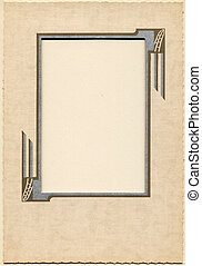 Vintage Frame 3 - Antique card picture frame with blank...