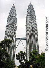 Petronas Twin Towers - The Petronas Twin Towers at Kuala...