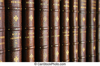 Law books - Antique law books in a book case