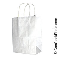 empty shopping bag - White shopping bag
