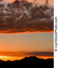 Arizona Sunset - Tucson Mountain Sunset